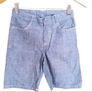 CALVIN KLEIN Denim Chambray Shorts Blue Boys Sz 8Y